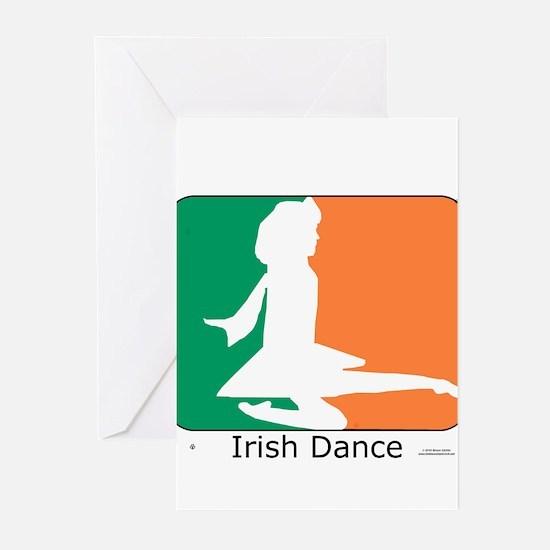 Irish Dance Tricolor Girl Greeting Cards (Pk of 20
