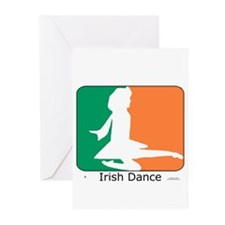 Irish Dance Tricolor Girl Greeting Cards (Pk of 10