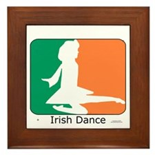Irish Dance Tricolor Girl Framed Tile