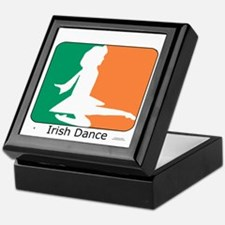 Irish Dance Tricolor Girl Keepsake Box