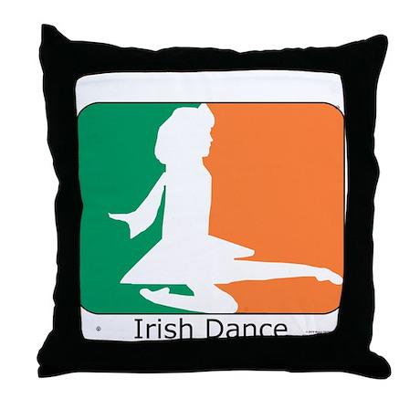 Irish Dance Tricolor Girl Throw Pillow
