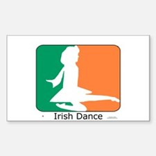 Irish Dance Tricolor Girl Decal