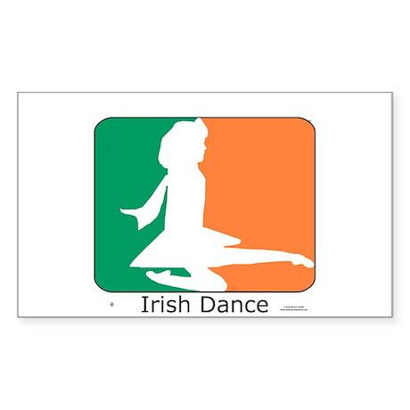 Irish Dance Tricolor Girl Sticker (Rectangle)