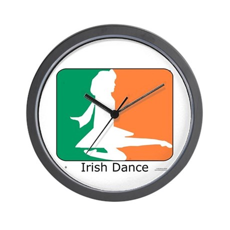 Irish Dance Tricolor Girl Wall Clock