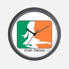 Irish Dance Tricolor Girl Wall Clock