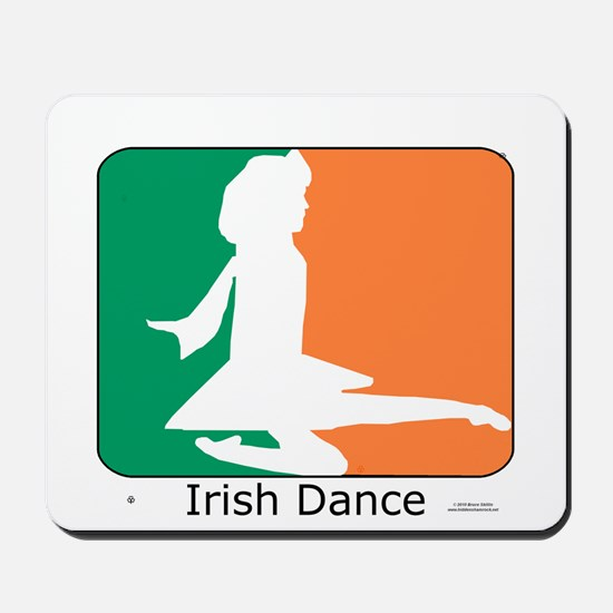 Irish Dance Tricolor Girl Mousepad