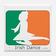 Irish Dance Tricolor Girl Tile Coaster