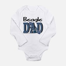 Beagle DAD Long Sleeve Infant Bodysuit