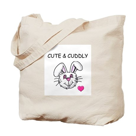 BUNNY FACE/BUNNY AND CARROT Tote Bag
