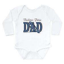 Bichon Frise Dad Long Sleeve Infant Bodysuit