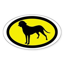 Treeing Tennessee Brindle Oval Decal