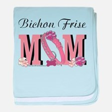 Bichon Frise Mom baby blanket