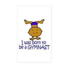 Born to be a Gymnast Ethan Rectangle Sticker