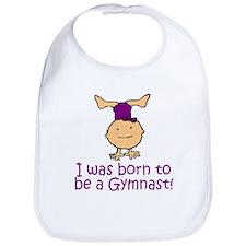 Born to be a Gymnast Madison Bib