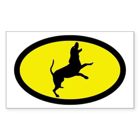 Treeing Walker Coonhound Rectangle Sticker