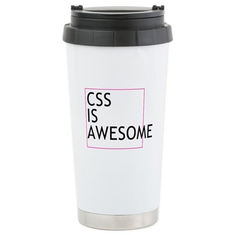 CSS is Awesome Stainless Steel Travel Mug