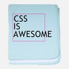 CSS is Awesome baby blanket