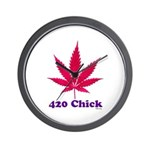420 Chick Wall Clock
