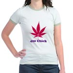420 Chick Jr. Ringer T-Shirt