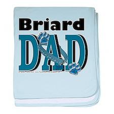 Briard DAD baby blanket