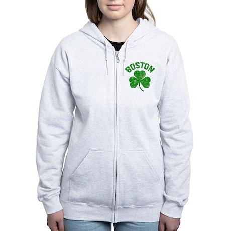 Boston Women's Zip Hoodie