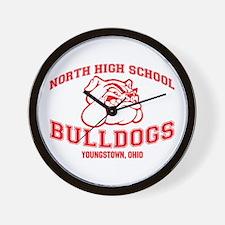 North High School Bulldogs Wall Clock