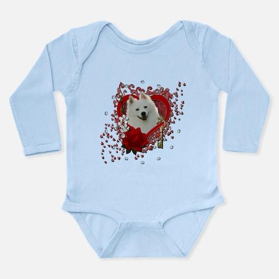 Valentines - Key to My Heart Long Sleeve Infant Bo