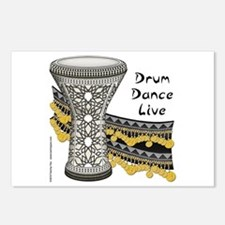 Drum, Dance, Live Postcards (Package of 8)