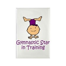 Gymnastic Star in Training Madison Rectangle Magne