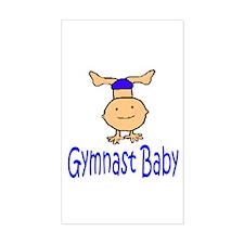 Gymnast Baby Joshua Rectangle Sticker