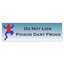 Do Not Poison Dart Frog Bumper Bumper Sticker
