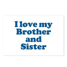 I Love My Brother and Sister Postcards (Package of