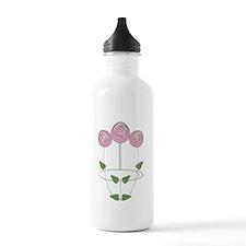 Art Nouveau Mackintosh Roses in Pink Water Bottle