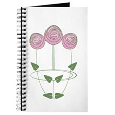 Art Nouveau Mackintosh Roses in Pink Journal
