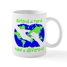 Extend a hand, make a difference Mug