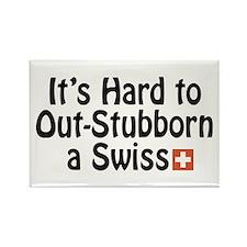 Stubborn Swiss Rectangle Magnet (100 pack)