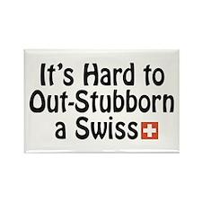 Stubborn Swiss Rectangle Magnet