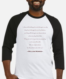 William Morris Preservation Quote Baseball Jersey