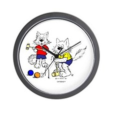 Croquet Cats Wall Clock
