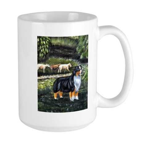 Aussie Tri w/ Sheep Large Mug