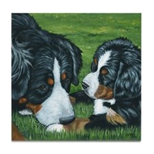 Bernese Mountain Dog Mom and Tile Coaster