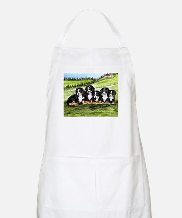 Bernese Moutain Dog Puppies Apron