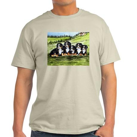 Bernese Moutain Dog Puppies Light T-Shirt