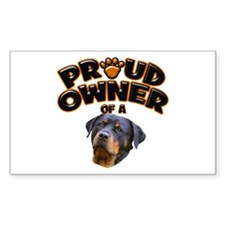 Proud Owner of a Rottweiler 2 Decal