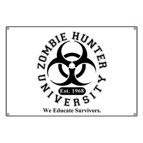 A Zombie Hunter University Banner