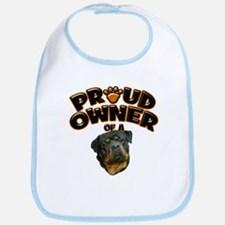Proud Owner of a Rottweiler 3 Bib