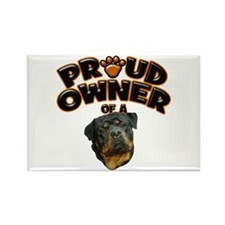 Proud Owner of a Rottweiler 3 Rectangle Magnet