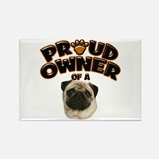 Proud Owner of a Pug Rectangle Magnet