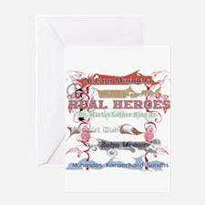 Real Heroes Greeting Card