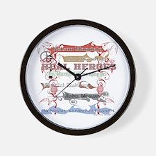 Real Heroes Wall Clock